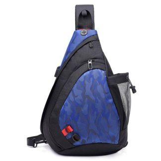 Рюкзак-сумка однолямочный ArtX Cross Body черно-синий #095-3