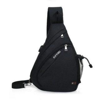 Рюкзак-сумка однолямочный ArtX Cross Body черный #95-5