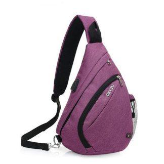 Рюкзак-сумка однолямочный ArtX Cross Body фиолетовый #095-8