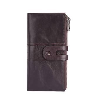 Кошелек женский кожаный c защитой ArtX RFID темно-коричневый #180-2