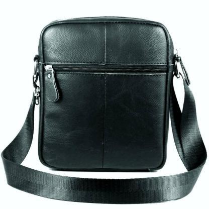 Сумка мужская через плечо ArtX кожаная черная #074-1