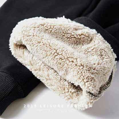 Мужской теплый зимний спортивный костюм на меху ArtX черный #314-1