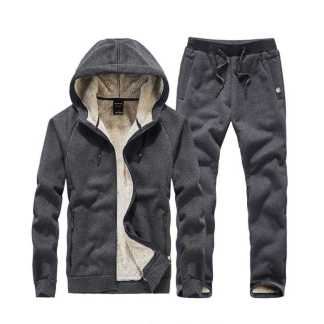 Мужской теплый зимний спортивный костюм на меху ArtX серый