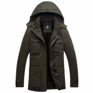 Мужская зимняя куртка М65 с капюшоном ArtX #m-65-1 Олива