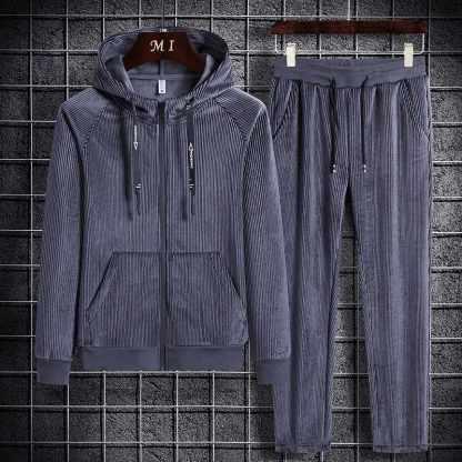 Вельветовый костюм ArtX #319-2 серый
