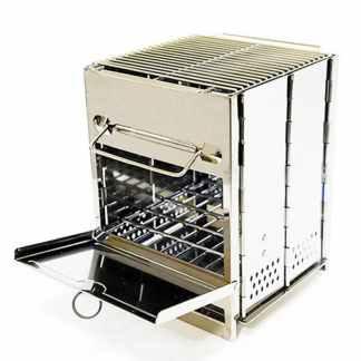 Мангал раскладной, печь для казана ArtX #440-1 серебристый