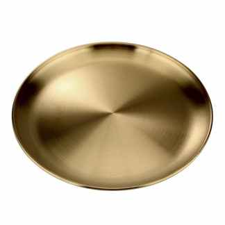Тарелка из нержавеющей стали с титановым покрытием ArtX 404 золотая
