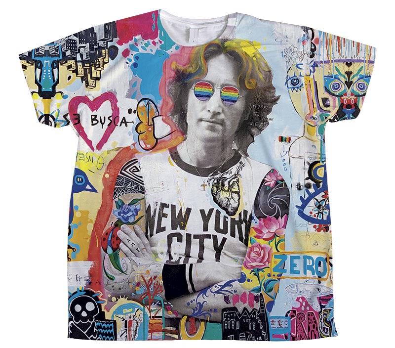camiseta john lennon pintura