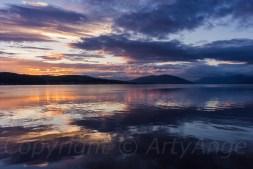 Rothesay Bay at Sunset