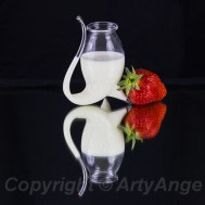 Strawberry Reflecting with Cream