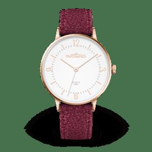 Les partisanes Colette blanc bracelet bordeaux