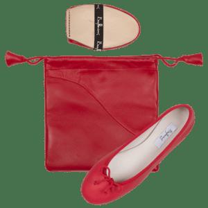 Bagllerina ballerine intemporelle rouge