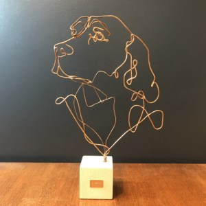 profilo-sculpture-fil-de-bronze-chien-english-setter-artydandy