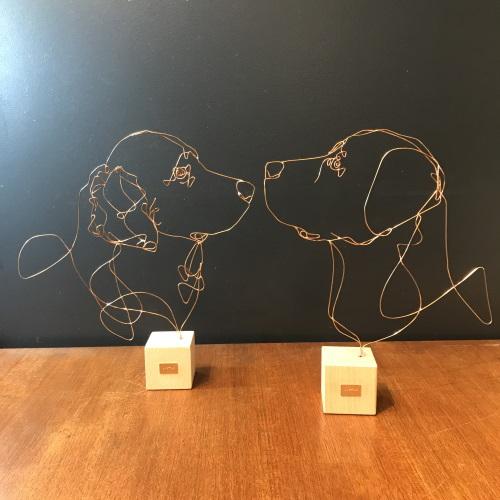 profilo-sculpture-fil-de-bronze-chien-golden-retrieveler-et-labrador-artydandy