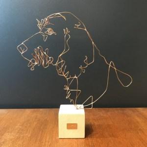 profilo-sculpture-fil-de-bronze-chien-teckel-poil-dur-artydandy