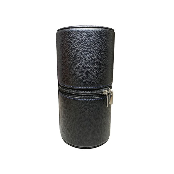 kronokeeper-tube-cuir-etui-de-voyage-noir-bleu-pour-2-montres-artydandy