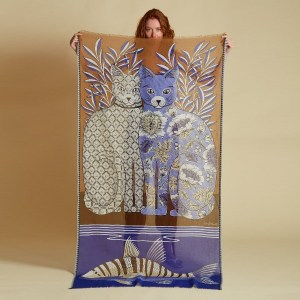 Inouitoosh-foulard-coton-ete-2021-chats-adele-et-lea-artydandy