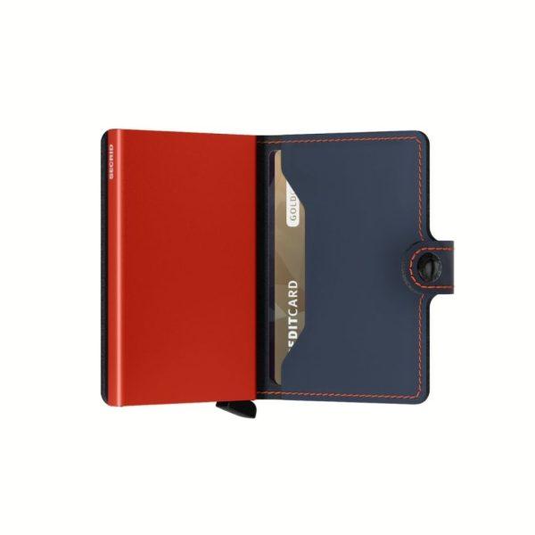 Porte-cartes-cuir-Secrid-Miniwallet-Matte-Night-Blue-Orange-semi-ouvert-artydandy