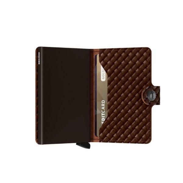 Secrid-porte-cartes-cuir-tresse-marron-semi-ouvert-artydandy