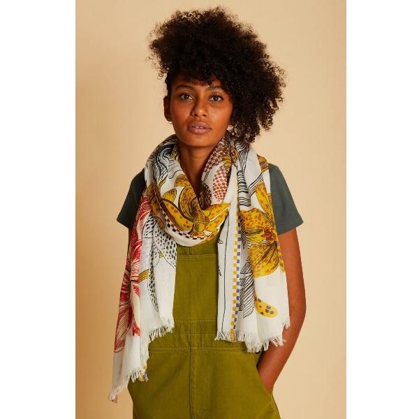 inouitoosh-foulard-blanc-en-coton-leopard-fleurs-ete-2021-artydandy-1