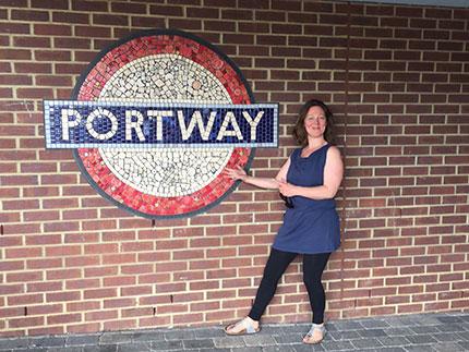 Maud Milton outside Portway Primary
