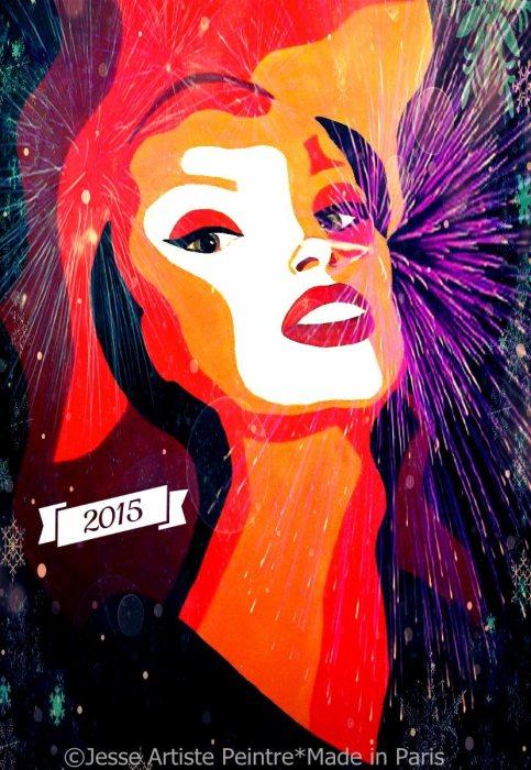 artiste peintre paris, happy new year, drag queen, jesse, artiste, paris