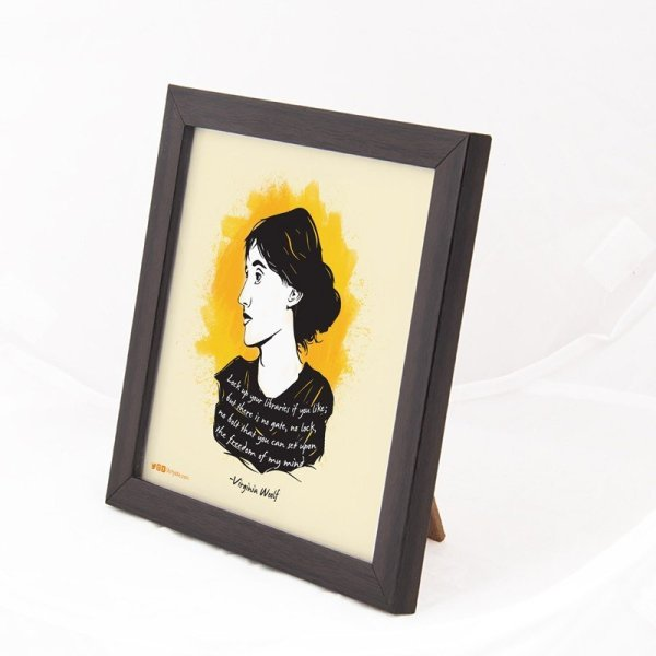 Lock up your libraries-Virginia Woolf Art Frame