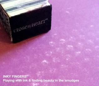 Sanding lighter over the embossing folder