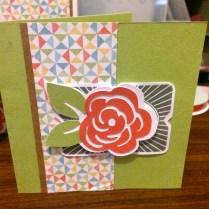 Framed – Aug 2015 SOTM Flower Card Green
