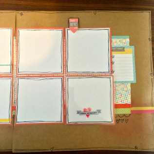 Love This CTMH Zoe Scrapbook 6 photo Layout with Flip Flap Close