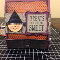 CTMH Nevermore Paper Pack & Trick or Treat Sweets Halloween Matchbook Treat Holder featuring the Witch