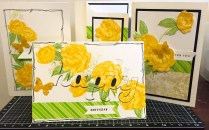 Beloved Bouquet - January 2016 Stamp of the Month - Yellow Rose card set