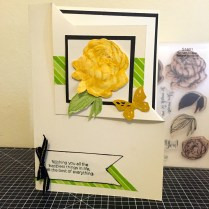 Beloved Bouquet - January 2016 Stamp of the Month : Yellow Rose corner Fold Card