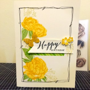 Beloved Bouquet - January 2016 Stamp of the Month: Yellow Rose Happy Birthday