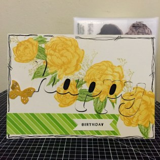 Beloved Bouquet - January 2016 Stamp of the Month: Yellow Rose hidden Happy Inlay