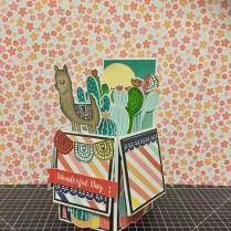 Llama Prickly Pear Pop Up Box Card www.maz.closetomyheart.com.au