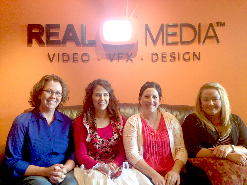 Bobbi, Arty, Cami, and Ang at the Real Media Studio
