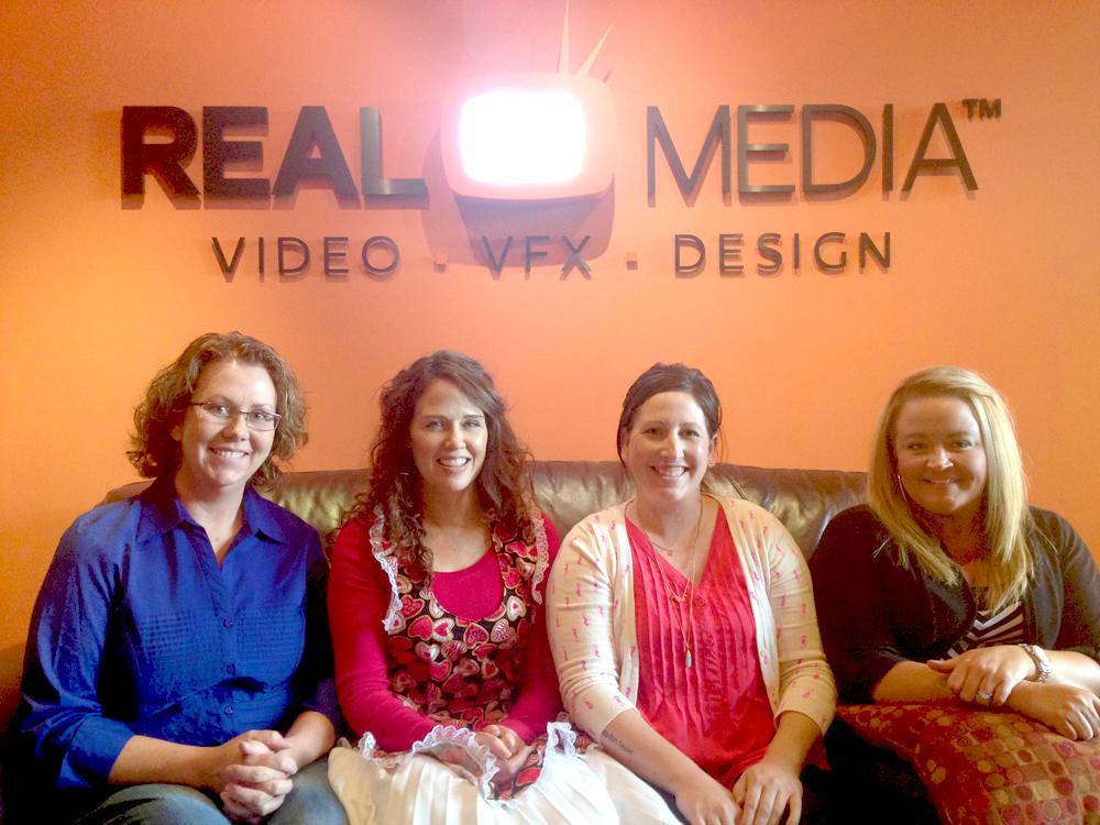 Bobbi, Arty, Cami, and Ang at the Real Media Studio