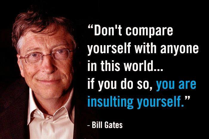 bill gates do not compare