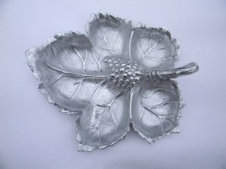 Arthur Court Pewter Leaf Tray