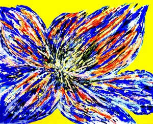 Eruption of a flower