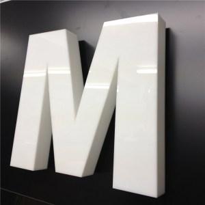 Объемные буквы - молочное акриловое стекло