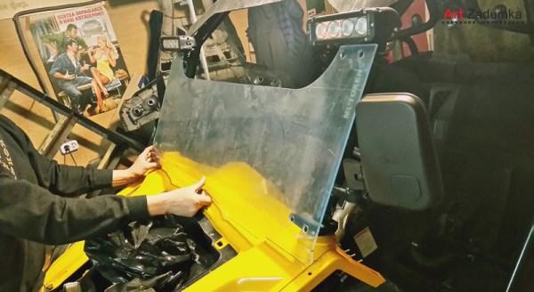 Ветровое стекло квадроцикла из оргстекла 6 мм