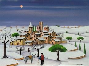 Nevicata Con Asinello