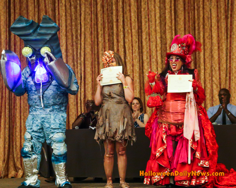 3rd, 2nd, and 1st Place Costume Contest Winners (from left)