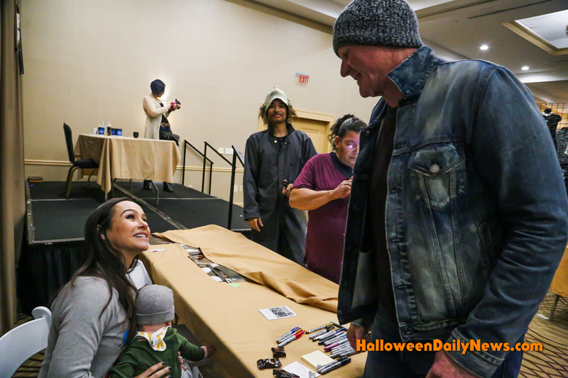Danielle Harris meeting James Jude Courtney for the first time