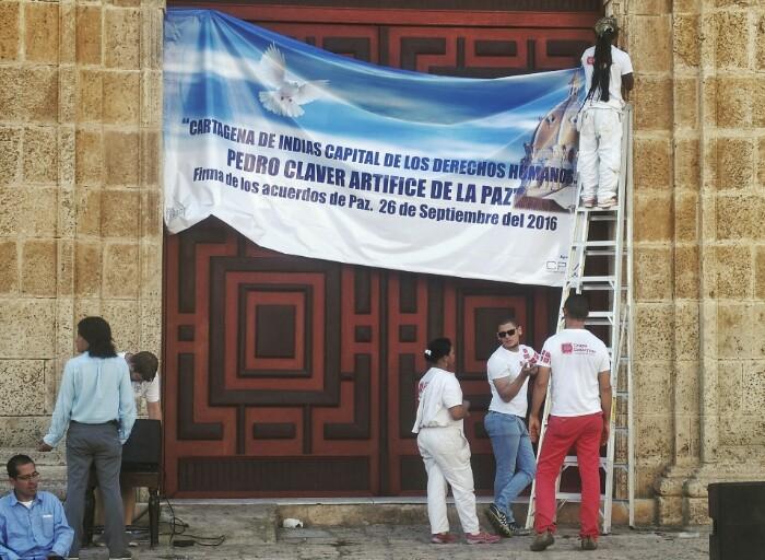 Baiezkoaren alde, Pedro Claver elizan. Cartagena de Indias.