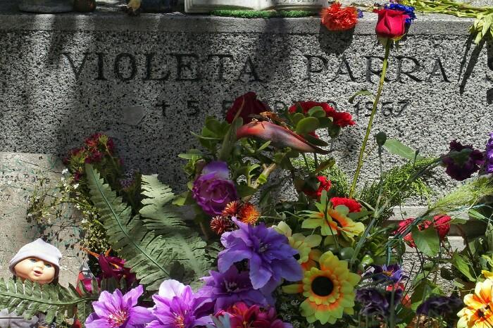 Violeta Parraren hilobia. Santiago, Txile.