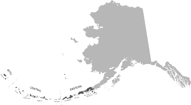 Aleutiar Uharteak (ilunago, mapan)