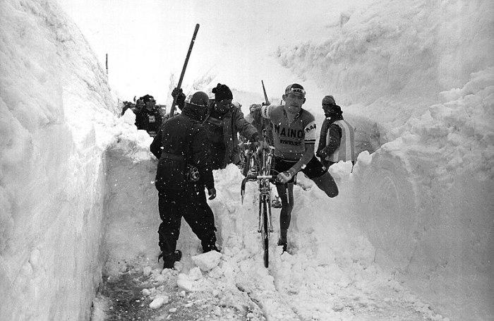 Aldo Moser Stelvion gora, 1965ko Giroan.